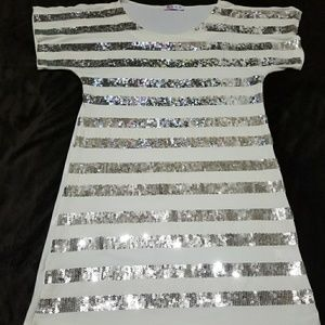 Sparkle striped sequin shirt